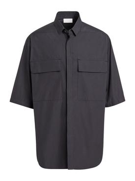 FEAROFGODZEGNA black oversize short-sleeve shirt