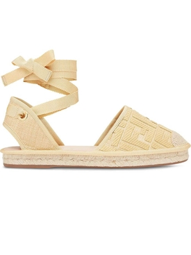 Fendi - Wrap-around Espadrille Flats - Women