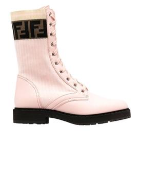 Rockoko combat boots, Rose