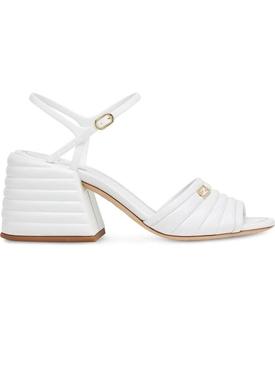 White Promenade Sandals