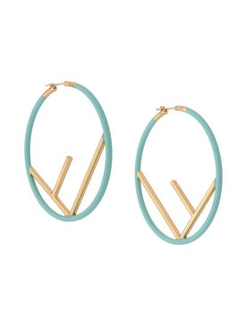 Fendi - F Logo Hoop Earrings - Women