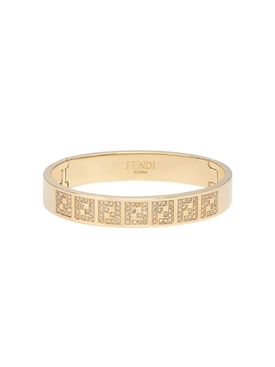 Fendi - Gold-tone Ff Monogram Bracelet - Women