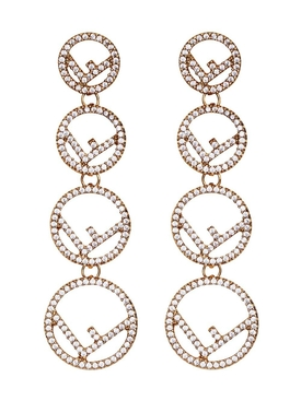 F is Fendi embellished earrings