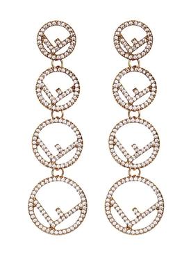 F is Fendi embellished earrings
