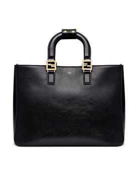 Fendi - Medium Top Handle Ff Tote Black - Women