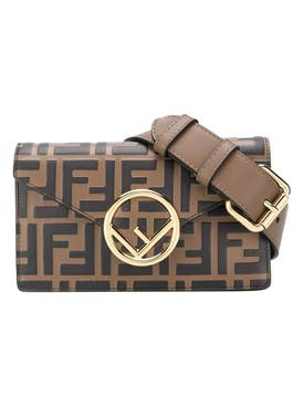 Fendi - Brown And Black Iconic Print Belt Bag - Women