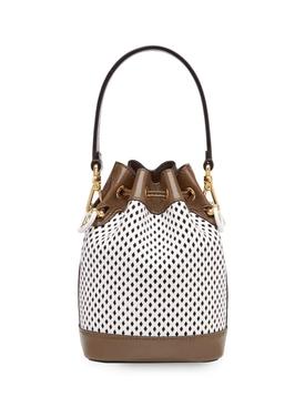 Mesh Mini Mon Tresor bucket bag WHITE