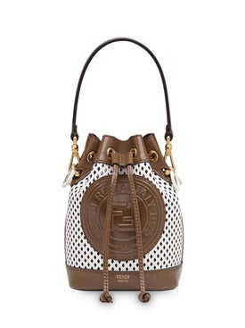 Fendi - Mesh Mini Mon Tresor Bucket Bag White - Women