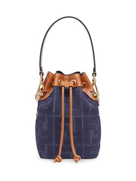 Fendi - Mini Denim Mon Tresor Bucket Bag - Women