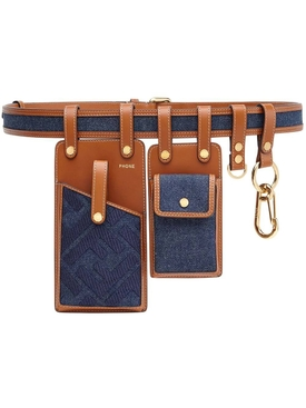 Denim harness belt bag