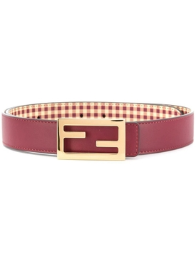 Red leather classic logo belt