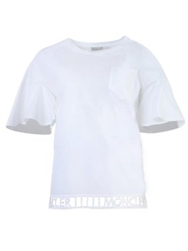 White Cut-Out Logo T-shirt