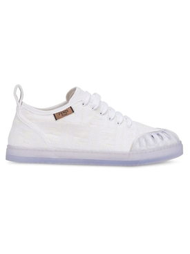 Fendi - White Jacquard Ff Motif Sneakers - Women