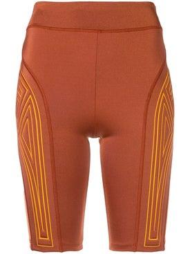 Fendi - Graphic Logo Cycling Shorts Orange - Women