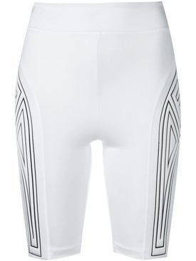 Fendi - Graphic Logo Cycling Shorts White - Women