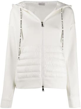 Moncler - White Padded Hoodie Jacket - Women