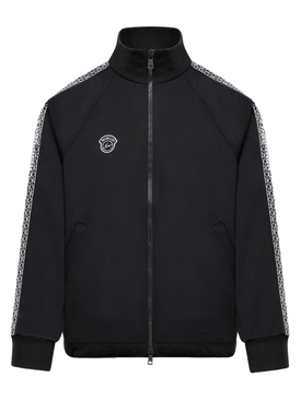 7 MONCLER FRAGMENT HIROSHI FUJIWARA BLACK ZIP UP CARDIGAN JACKET