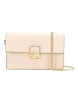 Fendi - Kan-u Wallet On Chain, Ivory - Women