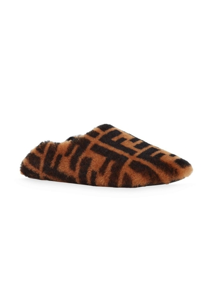 Fendi Shearling Ff Slippers
