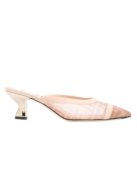 Fendi - Light Rose Collibri Logo Mules - Women