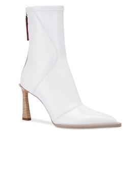neoprene ankle boots White