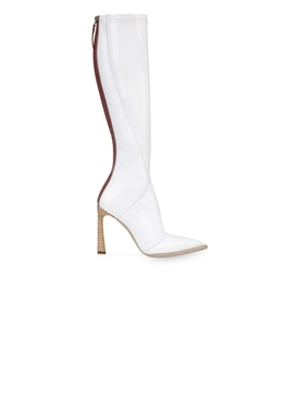 White pointed toe boots