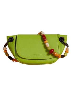 Green Leather Bend Bag