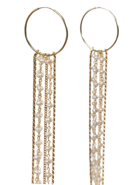 Anemone Crystal Cluster Earrings GOLD