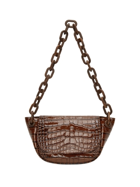 Croc Embossed Bend Bag COCOA CROC