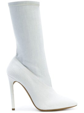 Yeezy - Bleached Denim Boots - Women
