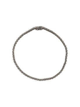 Blackened White Gold 2mm Line Bracelet