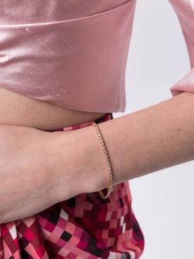 rose gold & diamond tennis bracelet