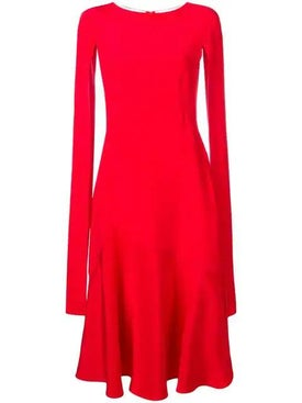 Calvin Klein 205w39nyc - Cape-sleeve Flared Dress - Women