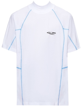 JAWS contrast stitching t-shirt OFF-WHITE