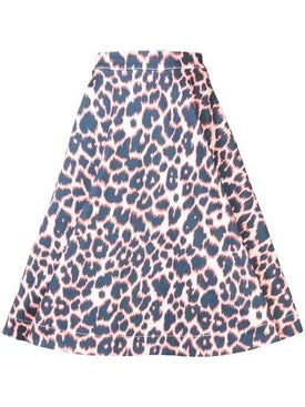 Calvin Klein 205w39nyc - Leopard Print Full Skirt Multicolor - Women