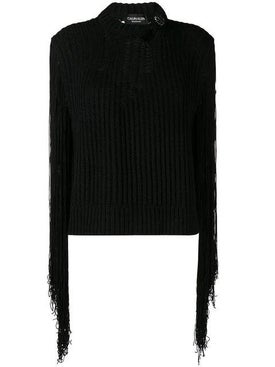 Calvin Klein 205w39nyc - Fringed Sleeves Jumper - Knitwear