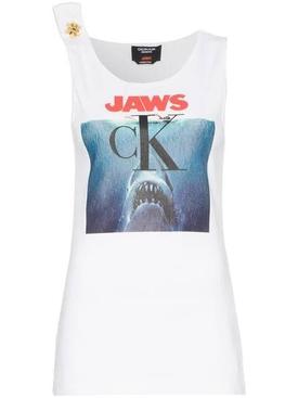 jaws logo cotton Tank Top