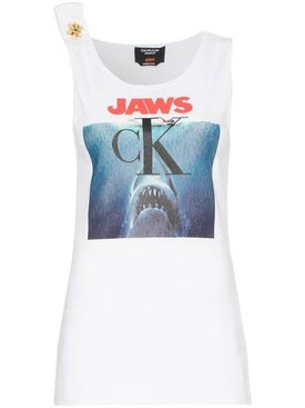 Calvin Klein 205w39nyc - Jaws Logo Cotton Tank Top - Women