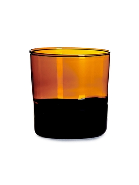 Amber and Black Water Glass MULTICOLOR