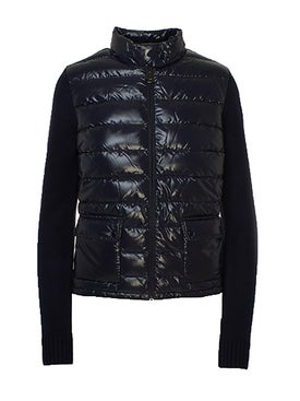 Moncler - Cardigan Puffer Jacket Navy - Down Jackets