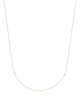 18K Rose Gold Jag Necklace
