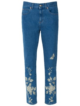 Gucci - Embroidered Denim Pant - Women