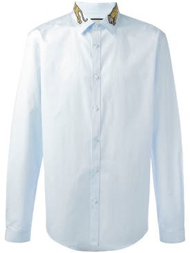 Gucci - Tiger Embroidered Collar Shirt - Men