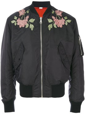 Gucci - Reversible Nylon And Silk Bomber Jacket - Men