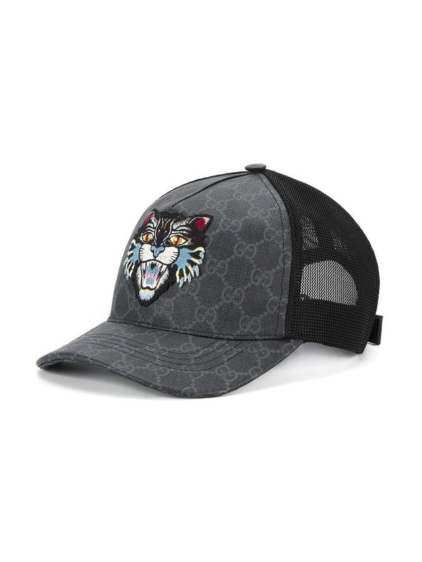 02394d80f011d2 Gucci - Gg Supreme Angry Cat Baseball Cap - Men