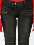 Balmain - Skinny Biker Jeans - Women