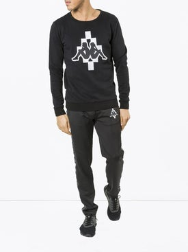 Marcelo Burlon County Of Milan - Marcelo Burlon X Kappa Crew Neck Black - Men