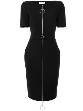 Mugler - Ring Pull Fitted Dress Black - Women