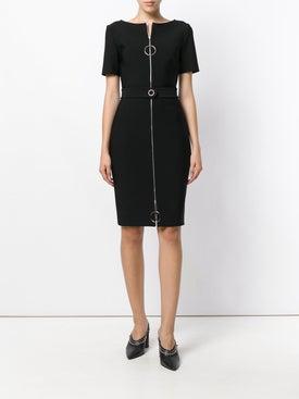 Mugler - Ring Pull Fitted Dress Black - Women