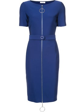 Mugler - Ring Pull Fitted Dress Cobalt Blue - Women